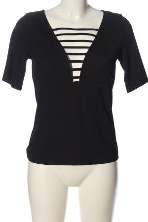 H&M Kurzarm-Bluse schwarz klassischer Stil