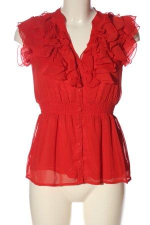 H&M Kurzarm-Bluse rot Elegant