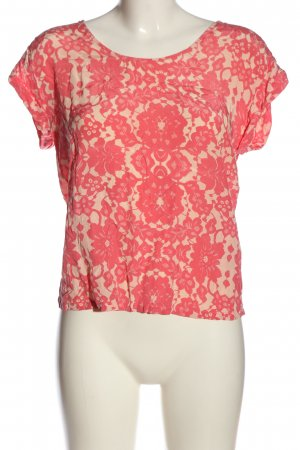 H&M Kurzarm-Bluse pink-wollweiß Casual-Look