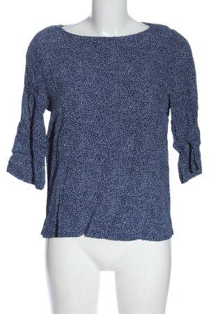H&M Schlupf-Bluse blau-weiß Casual-Look