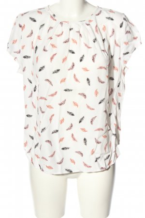 H&M Kurzarm-Bluse abstraktes Muster Casual-Look