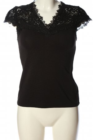 H&M Kurzarm-Bluse braun-schwarz Casual-Look