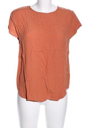H&M Kurzarm-Bluse hellorange Business-Look