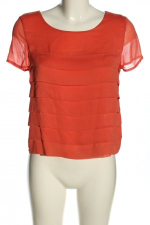H&M Kurzarm-Bluse rot Business-Look