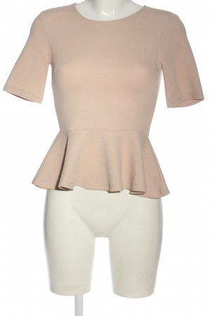 H&M Kurzarm-Bluse nude Stofflagen-Detail