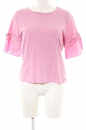 H&M Kurzarm-Bluse pink Casual-Look