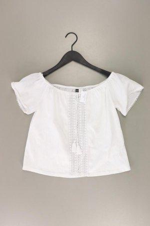 H&M Kurzarmbluse Größe M weiß aus Polyester