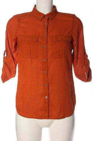 H&M Shirt met korte mouwen licht Oranje casual uitstraling
