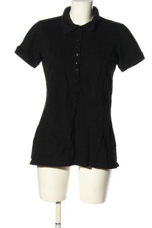 H&M Camicia a maniche corte nero stile casual
