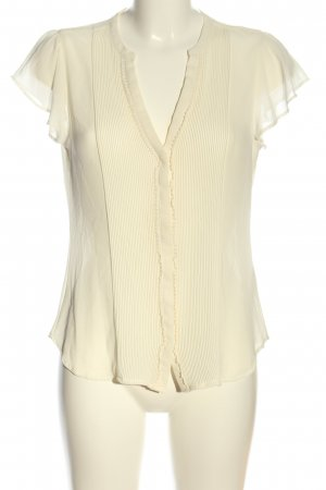 H&M Kurzarmhemd creme Casual-Look