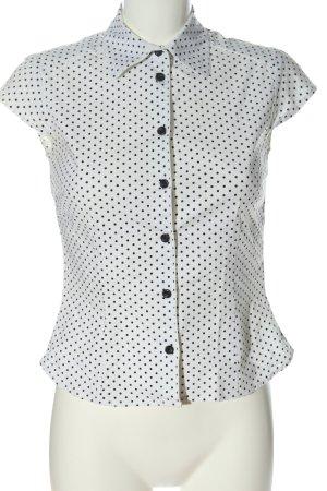 H&M Camisa de manga corta blanco-negro look casual