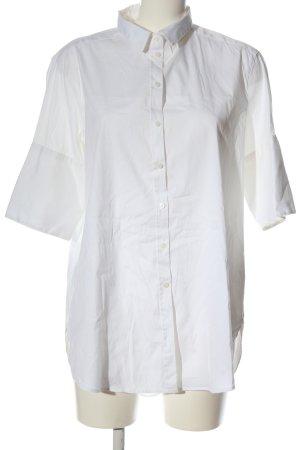 H&M Shirt met korte mouwen wit zakelijke stijl