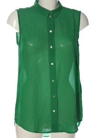 H&M Camisa de manga corta verde estilo «business»