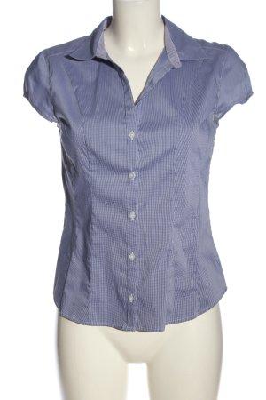 H&M Camisa de manga corta azul-blanco estampado a rayas look casual