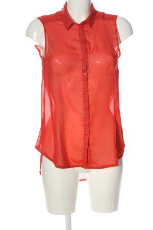 H&M Koszula z krótkim rękawem czerwony Elegancki
