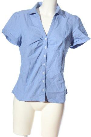 H&M Camicia a maniche corte blu-bianco stampa integrale stile professionale