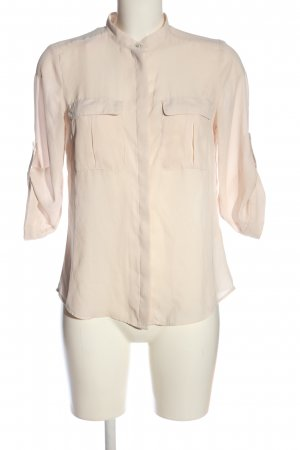 H&M Kurzarmhemd nude Casual-Look
