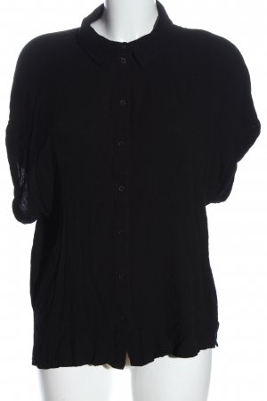H&M Kurzarmhemd schwarz Casual-Look