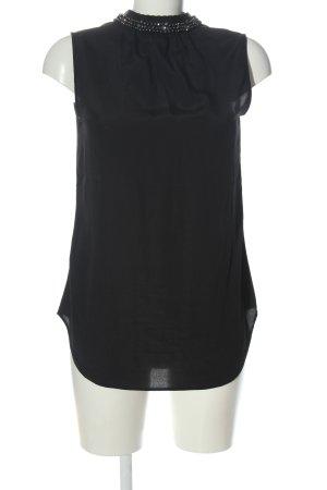 H&M Koszula z krótkim rękawem czarny W stylu biznesowym