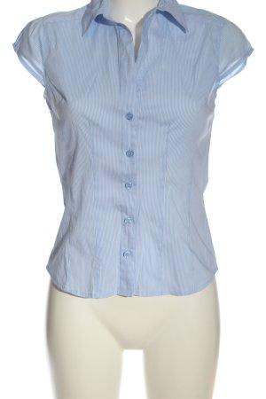 H&M Camicia a maniche corte bianco-blu stampa integrale stile professionale