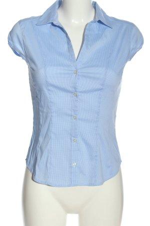 H&M Kurzarmhemd blau-weiß Casual-Look