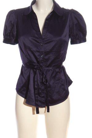 H&M Camisa de manga corta lila look casual