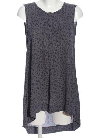 H&M Shirt met korte mouwen lichtgrijs volledige print casual uitstraling