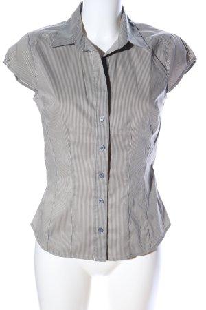 H&M Camicia a maniche corte argento motivo a righe stile casual