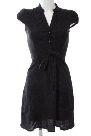 H&M Kurzarmkleid schwarz Streifenmuster Business-Look