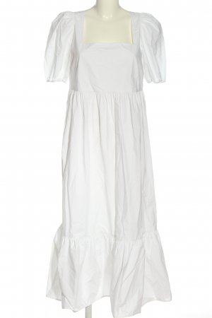 H&M Kurzarmkleid weiß Elegant