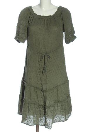 H&M Kurzarmkleid khaki Casual-Look