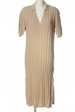 H&M Kurzarmkleid nude Casual-Look