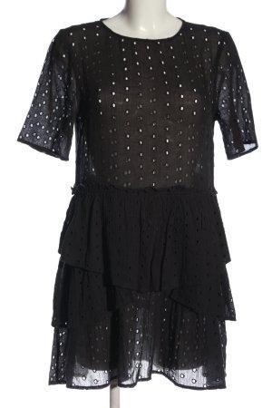 H&M Kurzarmkleid braun Casual-Look