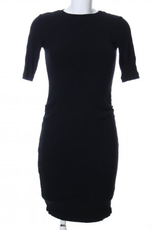 H&M Kurzarmkleid schwarz Business-Look