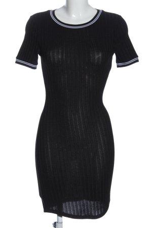 H&M Kurzarmkleid schwarz-weiß Casual-Look