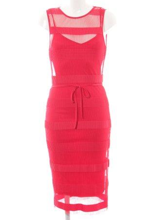 H&M Kurzarmkleid rot Streifenmuster Elegant