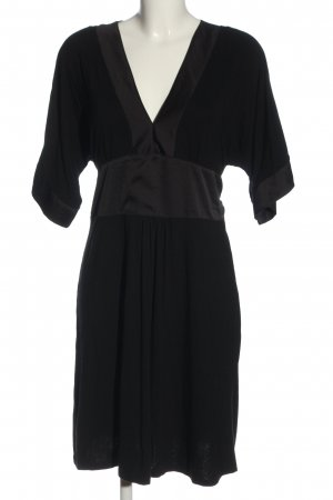 H&M Kurzarmkleid schwarz-braun Elegant