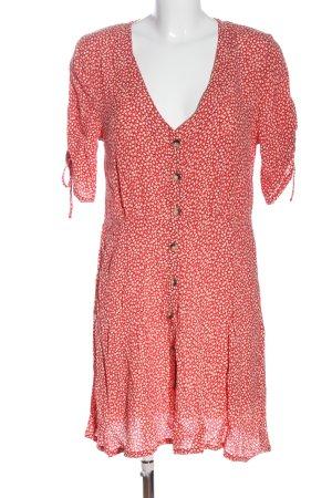 H&M Kurzarmkleid rot-weiß Casual-Look