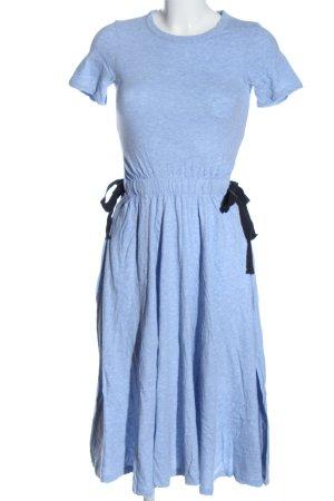 H&M Kurzarmkleid blau meliert Casual-Look