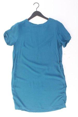 H&M Kurzarmkleid Größe 38 blau aus Viskose