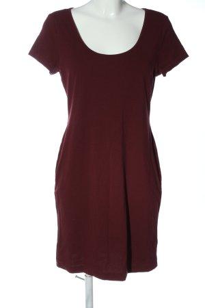 H&M Kurzarmkleid rot Casual-Look