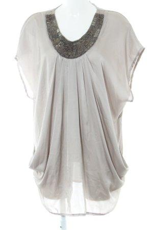 H&M Kurzarmkleid silberfarben Elegant