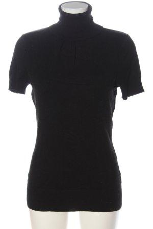 H&M Sweater met korte mouwen zwart casual uitstraling