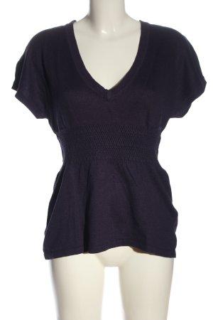 H&M Sweater met korte mouwen blauw volledige print casual uitstraling