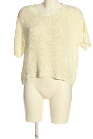 H&M Pull à manches courtes crème style décontracté