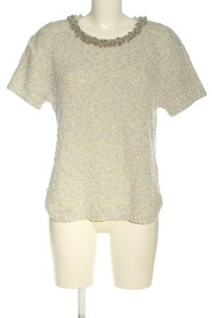 H&M Jersey de manga corta crema-color plata moteado elegante