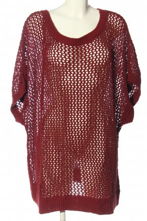 H&M Jersey de ganchillo rojo punto trenzado look casual