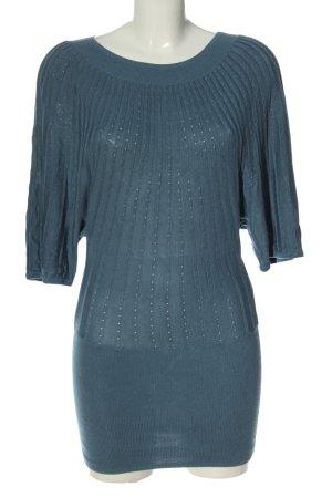 H&M Strickshirt blau Casual-Look