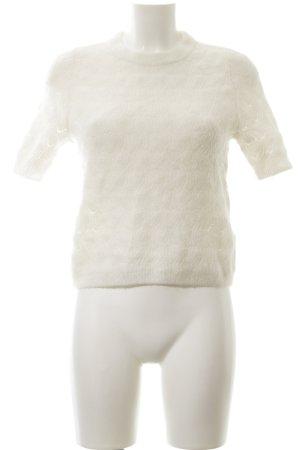 H&M Kurzarmpullover weiß Casual-Look