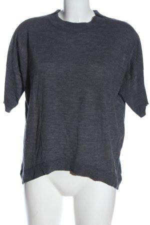 H&M Sweter z krótkim rękawem jasnoszary Melanżowy W stylu casual